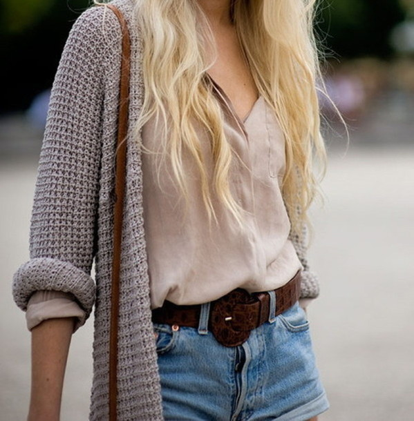 Jeans en beige top